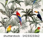 beautiful tropical floral... | Shutterstock .eps vector #1423323362