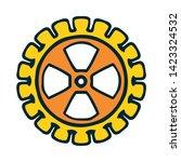 cogwheel linear icon. cogwheel... | Shutterstock .eps vector #1423324532