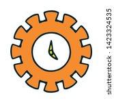cogwheel linear icon. cogwheel... | Shutterstock .eps vector #1423324535
