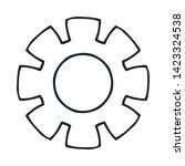 cogwheel linear icon. cogwheel... | Shutterstock .eps vector #1423324538