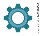 cogwheel linear icon. cogwheel... | Shutterstock .eps vector #1423324562