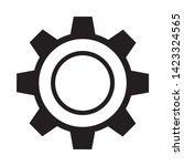 cogwheel linear icon. cogwheel... | Shutterstock .eps vector #1423324565