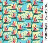 hand drawing vector pattern... | Shutterstock .eps vector #1423347782