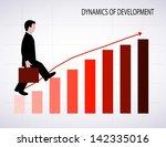 businessman going up | Shutterstock . vector #142335016
