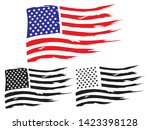 vector usa grunge flag  painted ... | Shutterstock .eps vector #1423398128
