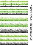 sets of seamless green grass... | Shutterstock .eps vector #142342252