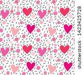 seamless vector pattern in flat ... | Shutterstock .eps vector #1423425728