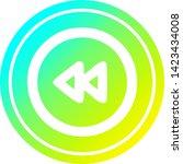 rewind button circular icon... | Shutterstock .eps vector #1423434008