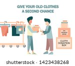 man give he's old or not used... | Shutterstock .eps vector #1423438268