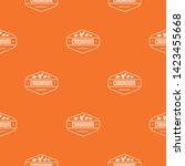 cardamom pattern vector orange...   Shutterstock .eps vector #1423455668