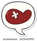 cartoon injured gall bladder...   Shutterstock .eps vector #1423455995