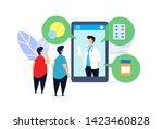 medical medication flat... | Shutterstock .eps vector #1423460828