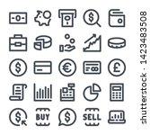 money and finance bold line... | Shutterstock .eps vector #1423483508