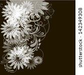 the flower it is black white... | Shutterstock .eps vector #142349308