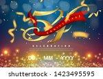 54 years anniversary logo... | Shutterstock .eps vector #1423495595
