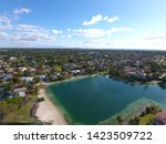 Aerial Drone View Of Miami Cutler Bay Community