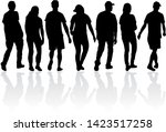 group of people. crowd of... | Shutterstock . vector #1423517258