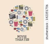 illustration of icon of cinema  ... | Shutterstock .eps vector #142351756