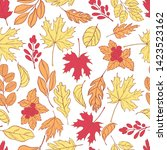 vector pattern with hand drawn... | Shutterstock .eps vector #1423523162