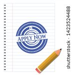 apply now draw with pen effect. ... | Shutterstock .eps vector #1423524488