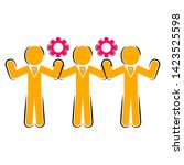 colored business teamwork icon...   Shutterstock .eps vector #1423525598