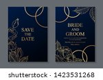 floral wedding invitation... | Shutterstock .eps vector #1423531268