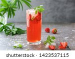 berry lemonade with ice. cold... | Shutterstock . vector #1423537115