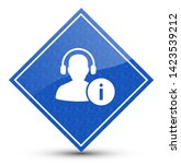help desk icon isolated on blue ...