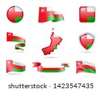 oman flags collection. flags... | Shutterstock .eps vector #1423547435