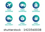 free shipping  delivery vector...   Shutterstock .eps vector #1423560038