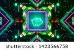 piggy bank symbol on digital... | Shutterstock . vector #1423566758