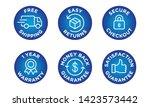 e commerce security badges risk ...   Shutterstock .eps vector #1423573442