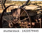 Old And Abandoned Combine...
