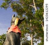 fox statue at the fushimi inari ... | Shutterstock . vector #1423612295