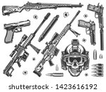 vintage military elements... | Shutterstock .eps vector #1423616192