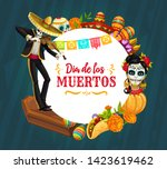 mexican day of the dead holiday ...   Shutterstock .eps vector #1423619462