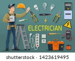 Electrician With Electrical...