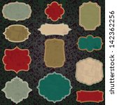 christmas grunge vintage label... | Shutterstock .eps vector #142362256