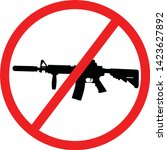 assault weapons ban  awb  in... | Shutterstock .eps vector #1423627892