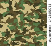 full seamless abstract military ... | Shutterstock .eps vector #1423650788