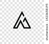 mountain icon from... | Shutterstock .eps vector #1423658195