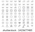 laundry and washing icons set....