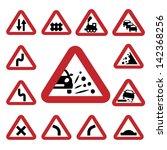 elegant traffic signs set... | Shutterstock .eps vector #142368256