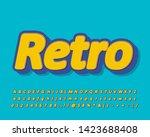 retro alphabet design  modern... | Shutterstock .eps vector #1423688408
