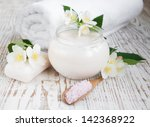 beauty treatment   jasmin... | Shutterstock . vector #142368922