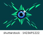 an eye with sharp shapes and... | Shutterstock .eps vector #1423691222