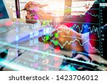 stock market or forex trading... | Shutterstock . vector #1423706012