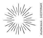 hand drawn sun burst doodle... | Shutterstock . vector #1423709645