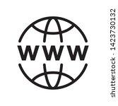 world wide web icon in trendy... | Shutterstock .eps vector #1423730132