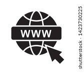 world wide web icon in trendy...